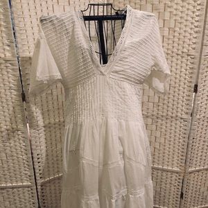Frye white cotton Maxi dress